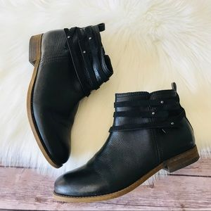 Franco Sarto Leather Ankle Booties Boots Shoes 9.5